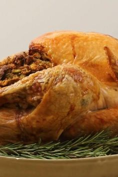 "Easy Beginner's Turkey with Stuffing | ""I used this recipe last year for my first Thanksgiving in attempt to impress my mother and my mother-in-law. I was successful both ways."" #thanksgiving #thankgivingrecipes #thanksgivingturkey #turkeyrecipes #turkey"