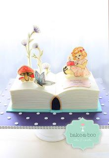 Pop Up Book Cake Maybe with science or food pop ups