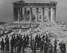 Indian Infantry Brigade arrived at Piraeus, the port of Athens, on December 1944 to join other British troops supporting the Greek government against Communist resistance groups. Parthenon, Acropolis, Italian Campaign, North African Campaign, Military Units, Indian Army, Famous Photographers, British Indian, Online Collections