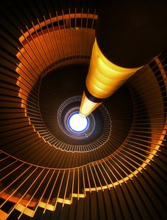 These are the amazing new spiral stairs at the Usher Hall in Edinburgh with a great light-tube running the whole height of the staircase. The Stairs of Usher Part III Amazing Architecture, Art And Architecture, Architecture Details, Beautiful Stairs, Take The Stairs, Stair Steps, Grand Staircase, Staircase Design, Stairway To Heaven