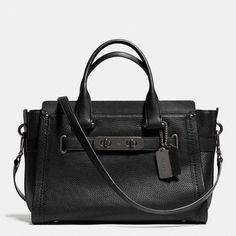 Coach Swagger Carryall in Nubuck Pebble Leather $550