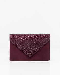 Jewel Embellished Envelope Clutch | LE CHÂTEAU Envelope Clutch, Card Case, Jewels, Wallet, Holiday, Cards, Style, Swag, Vacations