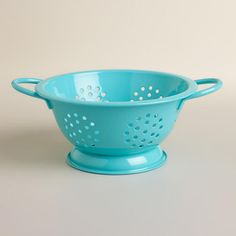 One of my favorite discoveries at WorldMarket.com: Mini Aqua Colander