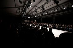 The show has started.   Behind the Scenes of Fashion show AW 2012