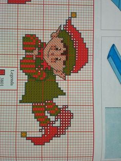 taken from a magazine Elf Styled A Christmas cross stitch chart