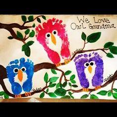 Foot print owls!
