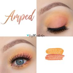 Amped Eye Duo uses two SeneGence ShadowSense from the Color Surge Collection : Fiery Coral Shimmer