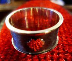 8Bit Retro Heart Ring Sterling Silver by SilverthinkJewelry, $49.99
