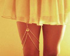 Cadena de Xena muslo pierna joyería / joyería del por WildHeartCo