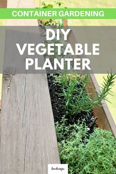 This DIY Herb Garden Planter Box is perfect for hanging over your Deck rails to grow your herbs, or as a DIY vegetable planter box.