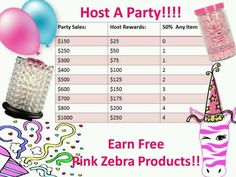 Why not Host a Party see how much you can Earn of Free Pink Zebra Products. Pink Zebra Party, Pink Zebra Home, Pink Zebra Sprinkles, Pink Zebra Consultant, Sprinkle Party, Activities For Boys, Rainbow Loom, Home Fragrances