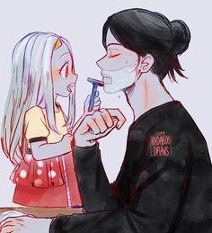 Credit to original artist! Anime Dad, Otaku Anime, Anime Guys, Manga Anime, My Hero Academia Episodes, My Hero Academia Memes, Hero Academia Characters, Boku No Hero Academia, My Hero Academia Manga