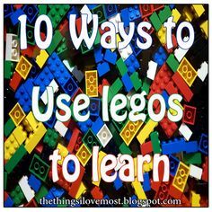 10 Ways to use Legos to Learn Education Sites, Kids Education, Fun Learning, Teaching Kids, Lego Math, Used Legos, Lego Challenge, Kids Things To Do, Lego Activities
