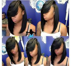 bob hairstyles african american weave Lace Front Black Wig Lace hair wigs for cancer patients 100 percent Lace wigs Quick Weave Hairstyles, Wig Hairstyles, Straight Hairstyles, Black Hairstyles, Protective Hairstyles, Protective Styles, Pretty Hairstyles, Black And White Wig, Black Wig