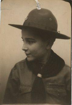 ** Vintage Photo Booth Picture **  Boy Scout