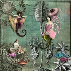 Under the Sea | by Mary Bailey A digital collage created with images from itKuPiLLi Imagenarium available at DeviantScrap.