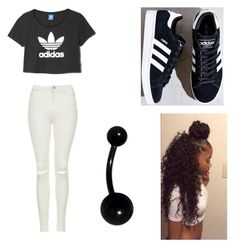 """""""adidas love"""" by princesscc2001 on Polyvore featuring adidas and Topshop"""