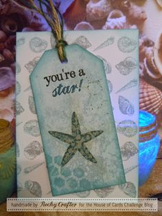House Of Cards, MHK Designs, Sea Creatures, Country Farm papers, tag, seaside,