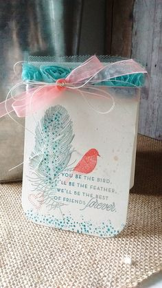 The Kitchen Table Crafter: Birds of a Feather - Friendship Card - ColourQ #344…