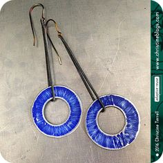 Distressed Tin CirclesUpcycled Tin EarringsYou by christineterrell