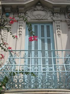 French windows in Nice, Provence, France