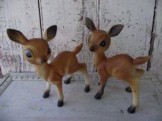Vintage Christmas Set of two Deer  reindeer by Lititz Carriage House