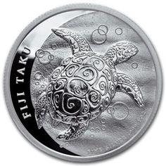 2011 Fiji Silver Taku ONE oz 999 Fine Silver  fiji turtle, silver coin fiji ,one ounce