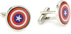 Marvel Comics Capt America Multi-Colored Men's Cuff Links Marvel Comics. $24.00. Made in China
