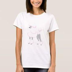 #Pink Poodle T-Shirt - #poodle #puppy #poodles #dog #dogs #pet #pets #cute