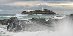 Stormy Seas At Godrevy by Fineart-Landscapes