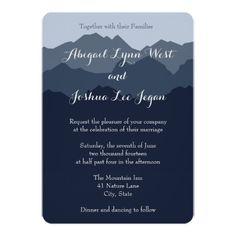 Blue Mountain Wedding Invitation                                                                                                                                                                                 More