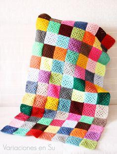 Granny squares blanket, work in progress.