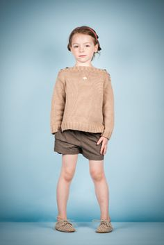 caramelbaby&child - knit sweater and polka dot shorts