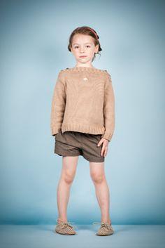caramelbaby&child - knit sweater and polka dot shorts