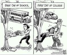 First day of college...