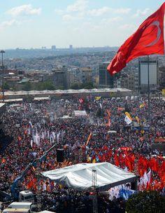 Taksim'deki tarihi mitingden kareler -09.06.2013