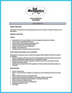 awesome impressive bartender resume sample that brings you to a bartender job check more at