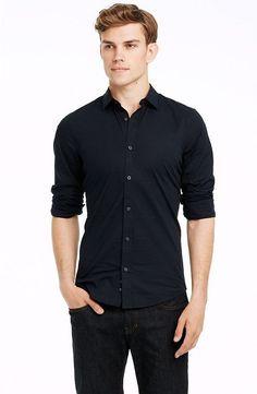 Super Slim Stretch Cotton Shirt - Bestsellers - Mens - Armani Exchange