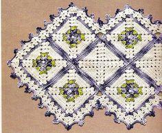 Caminhos em Crochê   toalhas em crochê    Com a beleza dos fios Anne, fazendo um quadrado  de cada vez, na quantidade desejada e após a eme...