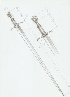 Oakeshott type XVa Swords And Daggers, Knives And Swords, Fantasy Weapons, Fantasy Warrior, Sword Reference, Sword Belt, Sword Design, Armadura Medieval, Medieval Weapons