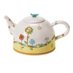 Artist Gallery, Tweet Tea Teapot. #Teapot #Collectible #Decor #Gift #gosstudio .★ We recommend Gift Shop: http://www.zazzle.com/vintagestylestudio ★