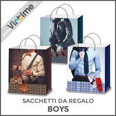 """Sacchetti da regalo in carta in 4 disegni assortiti, modello """"Boys"""". Confezione: Buste Trasparenti Dimensioni: 23 x 18 x 8 cm - Ref.: S14019/00 Dimensioni: 32 x 26 x 10 cm - Ref.: S14019/10 Dimensioni: 38 x 30 x 12 cm - Ref.: S14019/20  #Virtime #VirtimeClock #VirtimeHome #QuadroOrologio #OrologiDaParete #NovateMilanese #SacchettiRegalo #IdeeRegalo #Love #giftbags #gift #natale #xmas"""