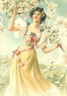 Vintage Images: Old postcards ❤❦♪♫ Decoupage Vintage, Vintage Ephemera, Vintage Paper, Vintage Art, Images Vintage, Vintage Pictures, Victorian Art, Victorian Women, Vintage Stil