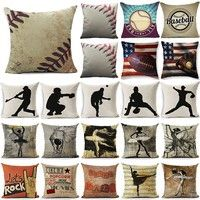 Wish | Vintage Baseball Decorative Pillow Cover Cushion Cover Pillowcase Home Decor