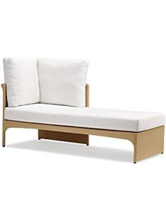 100Essentials Cerise Left Sided Day Bed with Cushion, Natural ❤ 100Essentials