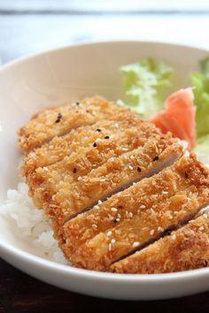 Chicken Katsu Recipe - Boneless skinless chicken breast coated with panko bread crumbs. 10 minute prep time.