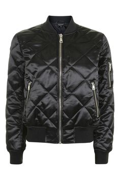 Quilted Shiny Ma1 Jacket