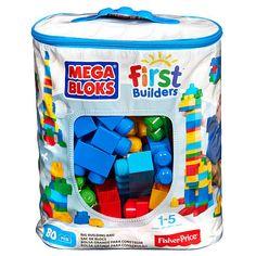 """Mega Bloks First Builders Big Building Bag - Blue (80 pcs) -  MEGA Brands - Toys""""R""""Us"""