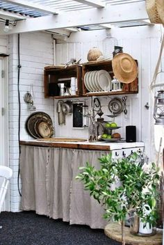 Emily Henderson Mountain Fixer Upper I Design You Decide 5 Styles Whimsical Scandinavian Cottage 05 garden ideas cottages Mountain Fixer Upper: The 5 Styles We Didn't Choose - Emily Henderson Outdoor Kitchen Design, Kitchen Remodel, Kitchen Decor, Home Kitchens, Cottage Kitchens, Diy Kitchen, Outdoor Kitchen, Kitchen Design, Shabby Chic Kitchen