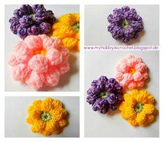 DIY Crochet Flowers : DIY Crochet Dahlia Flower- Free Pattern with Phototutorial Diy Crochet Flowers, Crochet Flower Tutorial, Knitted Flowers, Crochet Flower Patterns, Flower Applique, Crochet Crafts, Crochet Projects, Flower Diy, Nice Flower